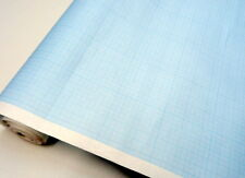 Graph paper roll . Metric 1mm 5mm 50mm squares.Blue