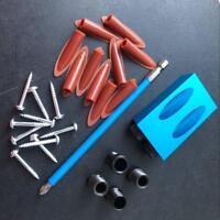 Pocket Hole Screw Jig Dowel Drill Carpenters Wood Joint Tool 15°Bevel Slotting