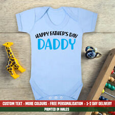 Happy Fathers Day Daddy Blue Baby Vest New First Dad Son Grandson Gift Idea