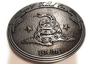 Dont Tread on me belt buckle military army navy marines AF US Seller patriot