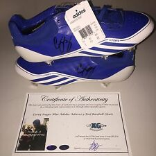 COREY SEAGER SIGNED AUTOGRAPHED DODGERS BLUE ADIDAS BASEBALL CLEATS-PROOF COA