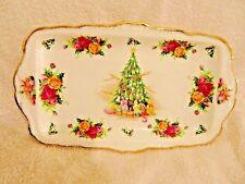 Royal Albert  Old Country Roses Christmas Magic Oblong Handled Tray
