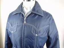 Vtg Retro Pacific Trail Sportswear Down Filled Puffer Ski Stuff Coat Jacket Blue