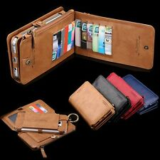 UK Floveme 2in1 Retro Wallet Card Slots Leather Case For iPhone 7 Samsung S6+