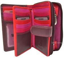 Visconti Ladies Purse Wallet Soft Leather Purple/Red/Pink New in Gift Box R13
