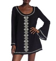 Love Stitch 153198 Women's Bell Sleeve Embroidered Tunic Dress Sz. Small