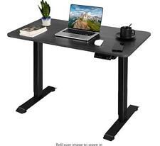 Height Adjustable Standing Desk T-Shaped Office Desk Electric Adjustable(Grey)