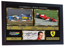Michael Schumacher print photo poster signed autograph Formula 1 FRAMED #022