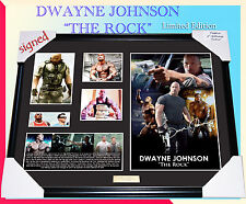 "NEW! DWAYNE JOHNSON "" THE ROCK "" MEMORABILIA SIGNED FRAME, LIMITED EDITION COA"