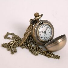Harry Potter Golden Snitch Pocketwatch Pendant Watch Necklace
