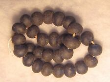 """VINTAGE COBALT BLUE TRADE BEAD NECKLACE.....30""""  WITH 30 JUMBO BEADS..#PORT-504"""