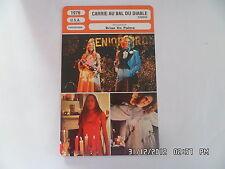 CARTE FICHE CINEMA 1976 CARRIE AU BAL DU DIABLE Sissy Spacek Piper Laurie