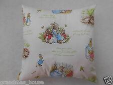 Peter Rabbit Cushion Cover White - 40x40cm - Perfect Handmade Gift!!