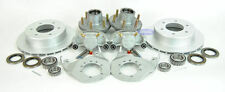 "6 Bolt Kodiak Boat Trailer Disc Brake Set Kit w/ Hubs 12"" ALL Dacromet Finish"