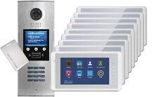 DigiOpen 9-Apartment Video Door Entry System CRONUS White monitors