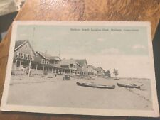 Madison Beach Looking East Madison Conn Posted 1924