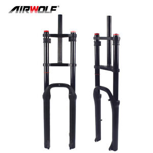 """26er Full Suspension Fat Bike Fork Snow Sand Beach MTB Bicycle Forks Fit 4"""" Tire"""