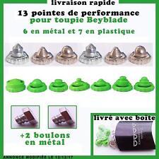 13 pointes de performance pour toupie beyblade, 6 métal, 7 PVC+ 2 boulons métal