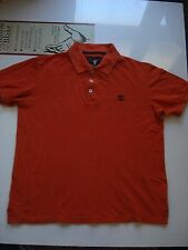 """Timberland """"Earthkeepers"""" Orange Cotton Polo Shirt, M, 44 Inch Chest, RN#76382."""