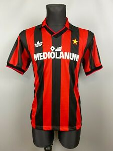 AC MILAN 1990 1991 HOME SHIRT FOOTBALL SOCCER JERSEY MAGLIA ADIDAS SIZE M