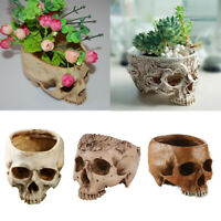 Human Skull Planter Flower Pot Home Office Plant Decor Flowerpot Planter 7Styles