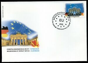390 - NORTH MACEDONIA 2020 - North Macedonia in the EU - Berlin - FDC