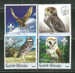 GUINEA BISSAU MNH SET OWLS [2003]