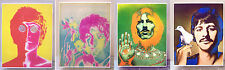 The Beatles - Four 11.25 x 14.5 inch Laminated Prints/Posters