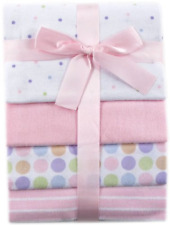 Baby Blankets 4 Pack Flannel Receiving Pink Soft Warm Cozy Cotton Girl Newborn