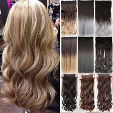 100%Thick One Piece Real Clip in As Remy Human Hair Extension Full Head US Stock