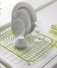 Dish Drainer Plate Rack Low Level Enamel Coated Steel Gloss Finish