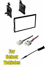 Double Din Car Stereo Radio Dash Install Kit Combo for select Xterra/Frontier