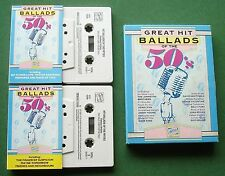 Great Hit Ballads of 50s Billy Fury Dave King + Box Set Cassette Tape x 2 TESTED