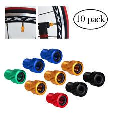 10pcs Presta Valve Schrader Adapter Converter Road Bike Cycle Bicycle Pump Tube