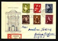 Germany DDR 1957 Arnstadt Registered Cover w/ Better - Z17225