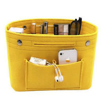 Women Felt Insert Organizer Bag Handbag Multi Pocket Mini Cosmetic Bag MA