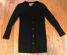 Women's Juicy Couture Long Black Buttoned Down Sweater Cardigan. Size Small.