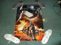 Rare Signed Autograph Poster 22.5X34 Star Wars Force Awakens Gwendoline Christie
