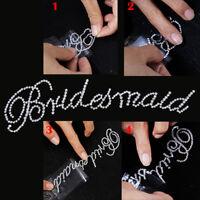 Chic Clear Bridesmaid Rhinestone Sticker for Bachelorette Party Wedding Decor