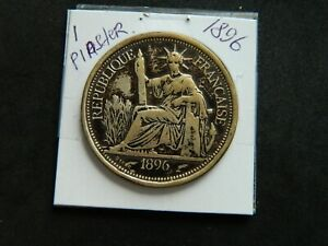 1896-A French Indo-China - Large Silver Piastre