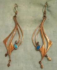 Ohrhänger,Bronze,Edelsteine: je 2 Türkise