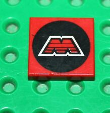 Lego Red Tile 2x2 with MTRON Logo Pattern ref 3068p68/set 6989 6923 6862 6956