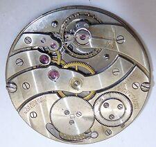 Vtg ED KOEHN PATEK PHILIPPE GENEVE 18 Jewel Pocket Watch Movement PART or REPAIR