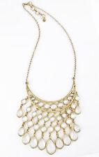$79 Lucky Brand Gold-Tone  White Stone Collar Bib Necklace