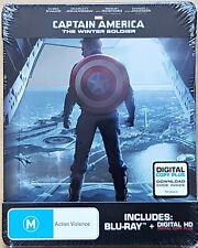 Captain America: The Winter Soldier - Steelbook geprägt (AU Import) Blu-ray NEU