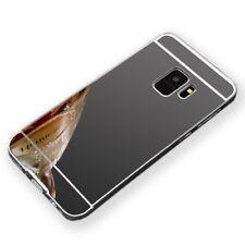 Mirror ALU parachoques 2 pzas. negra para Samsung Galaxy s9 g960f funda estuche