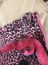 """Kiping"" Makeup Bag-9""X7""- Pink And Black Animal Print New No Tags"