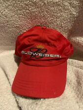 Budweiser Mens Adjustable Ball Cap Hat Red Crown 2004 NEW