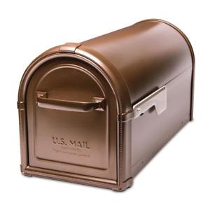 Hillsborough Post Mount Mailbox Copper Mail Box Cast Aluminum Magnetic Frame