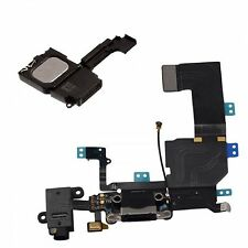 Replacement Black Charging Port Dock Connector With Loudspeaker For iPhone 5C